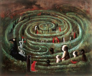 Laberinto, pintura de Leonora Carrington