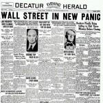 La historia se repite (Se cumplen 80 años desde el 'crash' del 29)