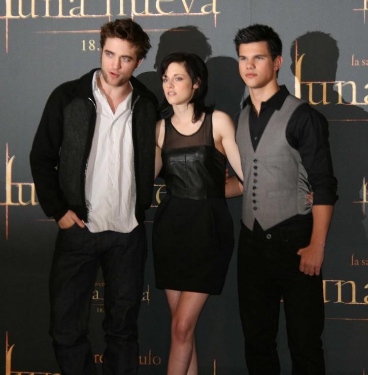 Robert Pattinson, Krsten Stewart y Taylor Lautner