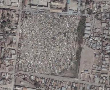 Superpoblación en slums haitianos. De michael5000.blogspot.com/2008/07