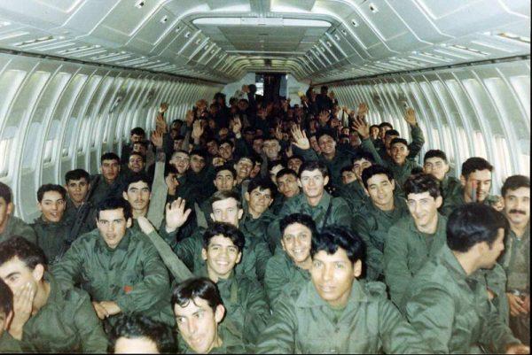 Soldados argetinos en Malvinas, 1982.