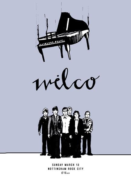 Afiche de un concierto de Wilco