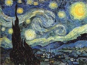 Noche estrellada de Van Gogh.