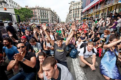 #acampadabarcelona: V de Victoria