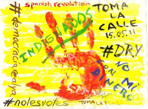 Indignados. Acuarela. 210x297. Mayo 2011-1