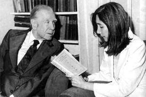 Jorge Luis Borges con Maria Kodama