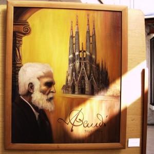 Homenaje a Antonio Gaudí por Gaby Landeros.