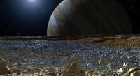 Recreación artística de Europa. Imagen: NASA/JPL-Caltech.