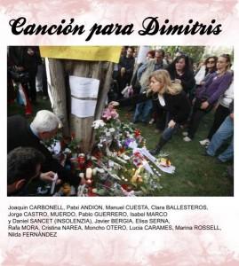 Canción para Dimitris, de Joaquín Carbonell
