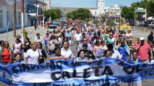 Protesta de estatales Santacruceños.