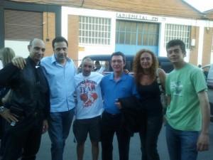 De izda. a dcha.: Raúl Tristán, Alfonso de Campos, López Bueno, Pascual Donoso, Conchi Corruchaga y Dani Rodellar