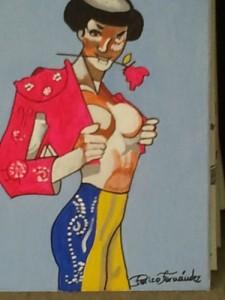Detalle de uno de los cuadros de Perico Fernández