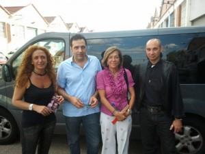 Conchi Corruchaga, Alfonso de Campos, Pilar Lahera y Raúl Tristán