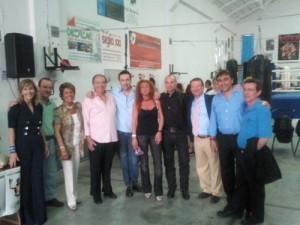 En la foto, entre otros, Zalba, De Campos, Conchi, Tristán, Visús, Segarra y Donoso