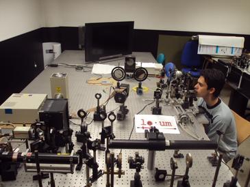 El sistema experimental utilizado en el experimento. Imagen LOUM