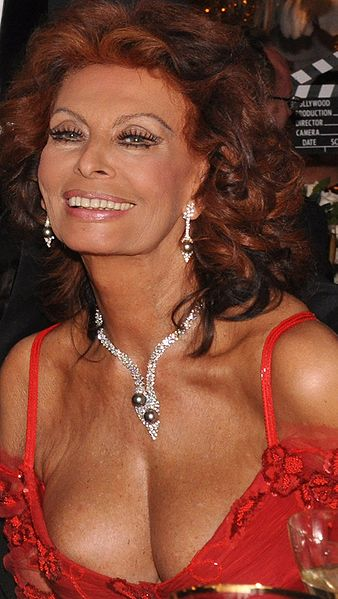 Sophia Loren at an event in London in 2009