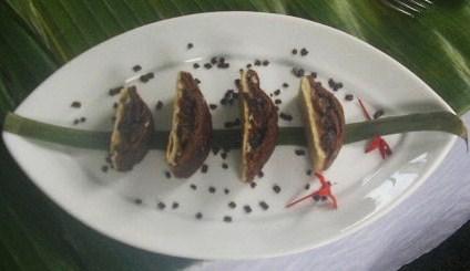 Pudding de pescado en hojaldre
