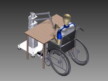 Simulación de un paciente en rehabilitación con uno de los robots. Imagen Instead Technologies