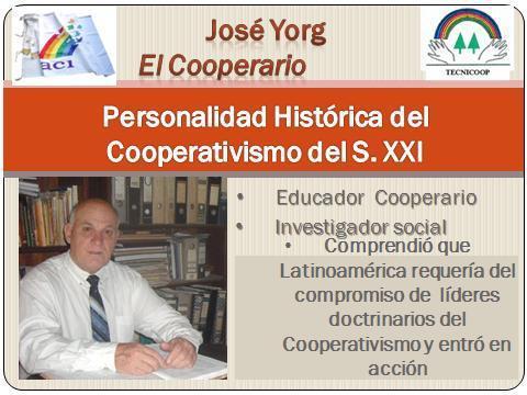 Conociendo más a El Cooperario José Yorg