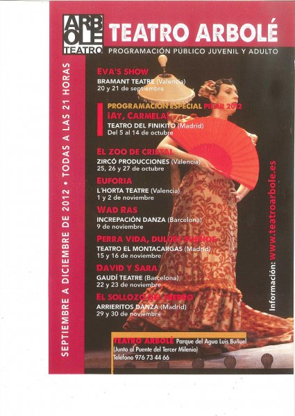 TEATRO ARBOLÉ. Teatro y Danza para adultos