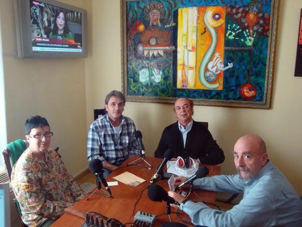 Carmen Casas, Juan Carlos Laporta y Dionisio Sanchez