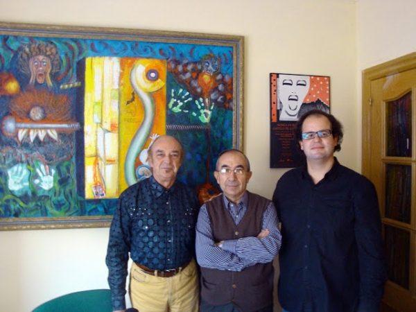 Con Fernando Gracia Guía y Javier Millán