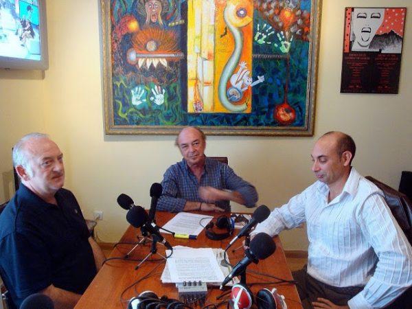 Con Paco Rallo y Raúl Tristán
