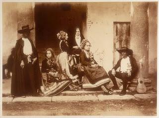 Lagarteranos en traje de boda, realizada en Oropesa en 1858