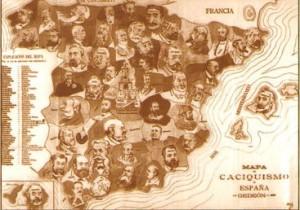 Mapa del caciquismo (portada del libro de Costa en edición francesa)