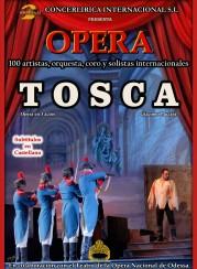 Cartel de la ópera Tosca, de Puccini