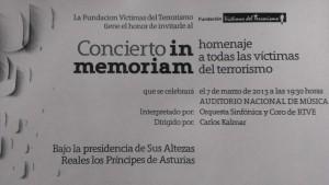 invitación acto por las víctimas de ETA