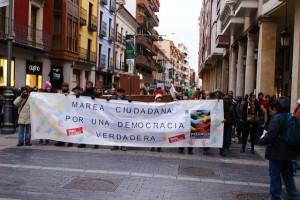 Marea ciudadana en Palencia. Manifestación el 23FEB2013. Foto: Manu Torío