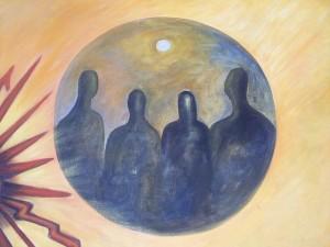 Extraterrestres. Mural en el museo Aramara de Tepic