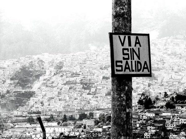 Pobreza. Favelas. Via sin salida