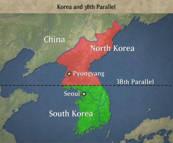 mapa corea