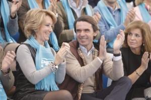Esperanza Aguirre, Aznar y Botella