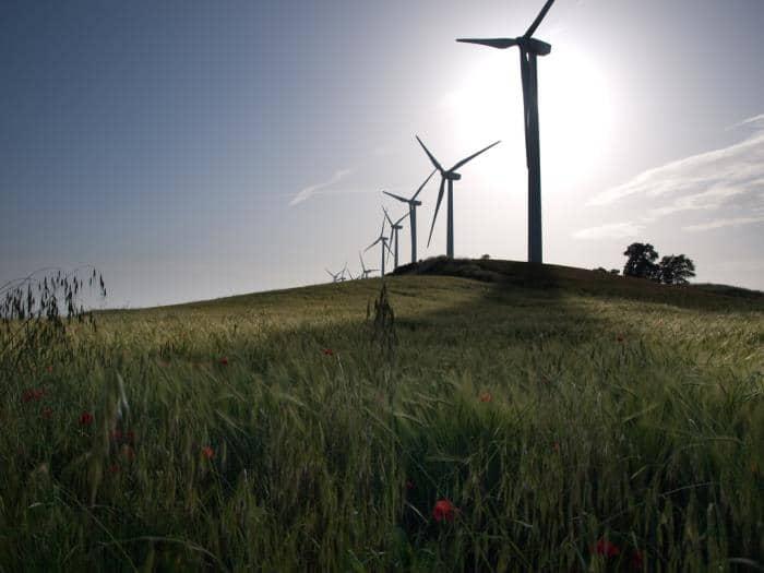 Molinos de viento. Energías renovables