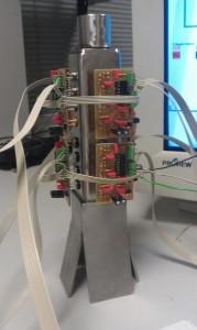 El sistema multisensor (Foto: UPV) identifica los olores de manzanas y peras (Foto: Teresa Howes)