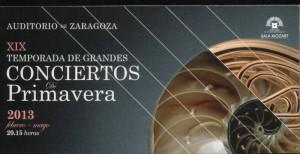 Auditorio de Zaragoza, fin de temporada
