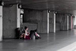 Estación de tren. Emigrar