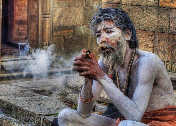 Hindú. Monje hinduista
