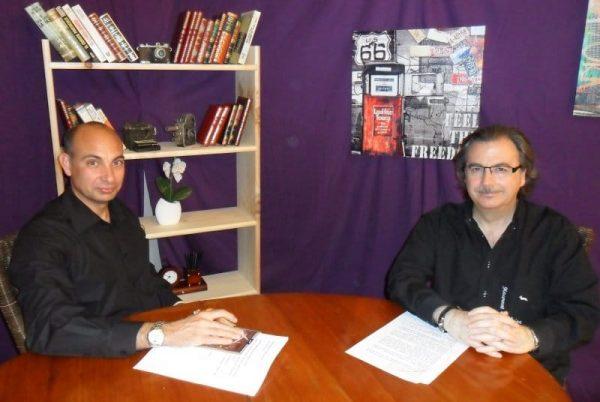 Programa nº 1 de 'El Lobo Estepario'. De izda. a dcha: Raúl Tristán con Rafael Castillejo.