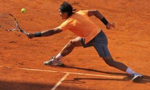 Rafa Nadal obtiene la puntuación máxima cuando es evaluado por los patrones de juego de los tenistas más eficientes. /  Marianne Bevis.