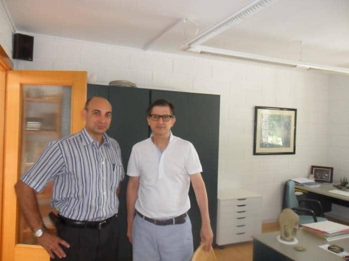 Raúl Tristán (izda.) con el director de la Escuela Internacional de la Rosacruz Áurea y Presidente de la Fundación Rosacruz, Francisco Casanueva Freijo.