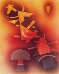 De las frías profundidades,Wassily Vasílievich Kandinsky, 1928
