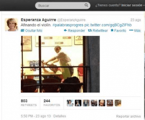 Esperanza Aguirre (EsperanzAguirre) en Twitter(1)