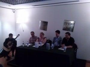 Mesa de presentación de El Rapto de la Diosa en la FNAC de Zaragoza