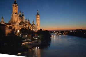 El Pilar y el río Ebro en Zaragoza