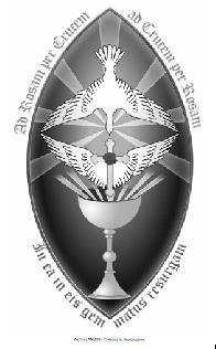 Símbolo creado por la Orden Rosacruz AMORC en 1998 a partir de un diseño realizado por François Mérindier con ocasión de los Salones de la Rosacruz que se llevaron a cabo en París en 1893. En este símbolo la Rosa-Cruz alada representa el alma humana que se eleva gradualmente en la comprensión del Plan divino bajo el efecto de sus propias aspiraciones, hasta el momento en que queda iluminada por la Consciencia divina simbolizada por la paloma que desciende bajo la aureola de siete rayos de luz. Fuente: AMORC