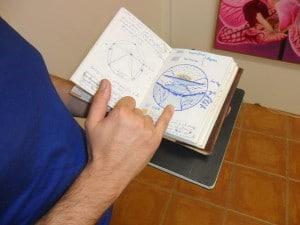 Cuaderno de bocetos y anotaciones de Georges Ward